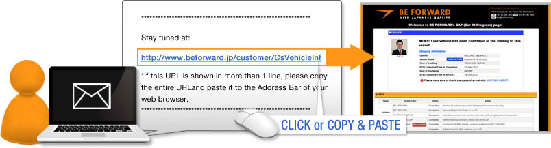 The URL address for the CAP page will be sent by email after each purchase. Every car has an individual CAP page.